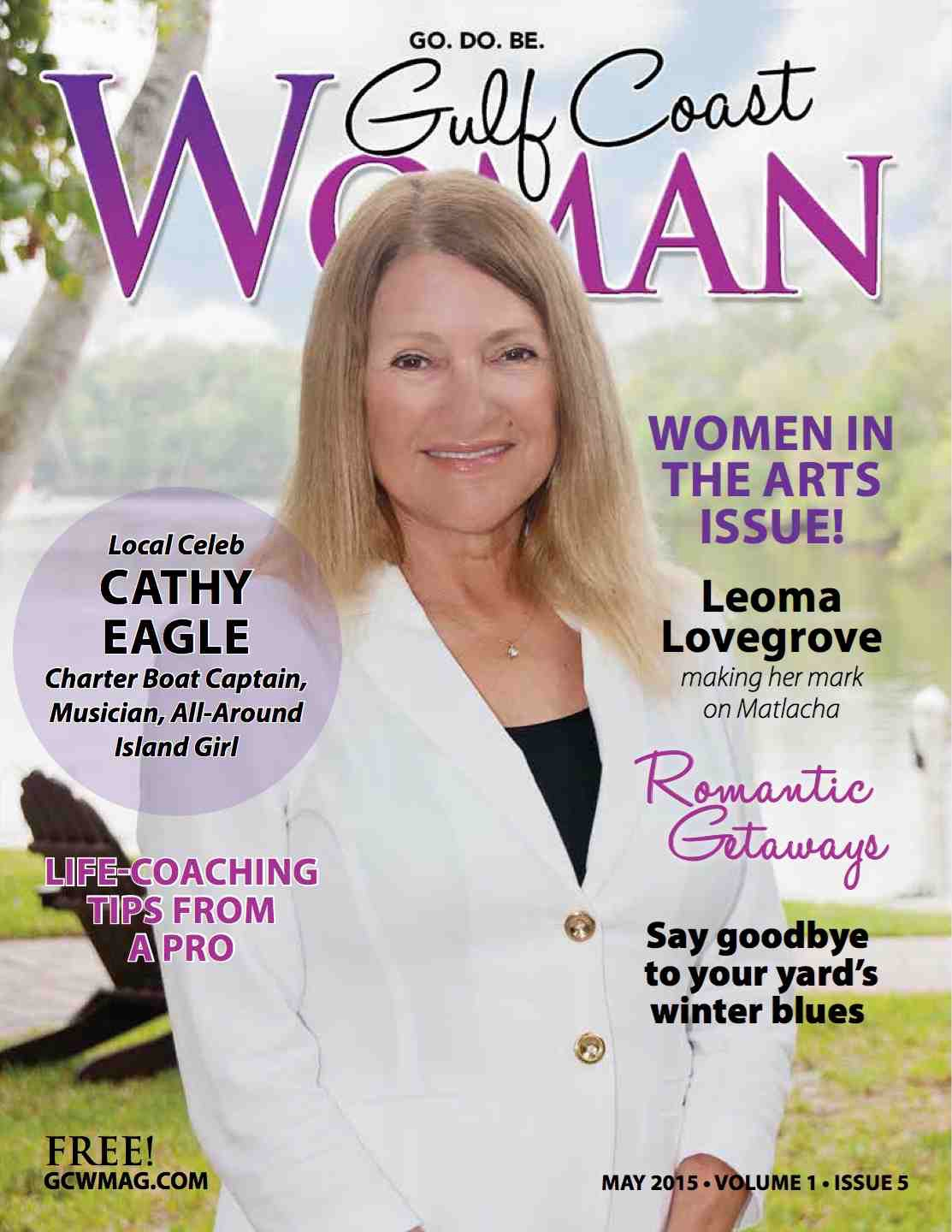 Gulf Coast Woman magazine features Captain Cathy Eagle (image)